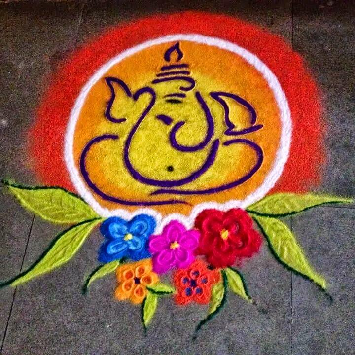ganesha images for rangoli - photo #2