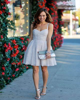 vestido corto de moda blanco tumblr
