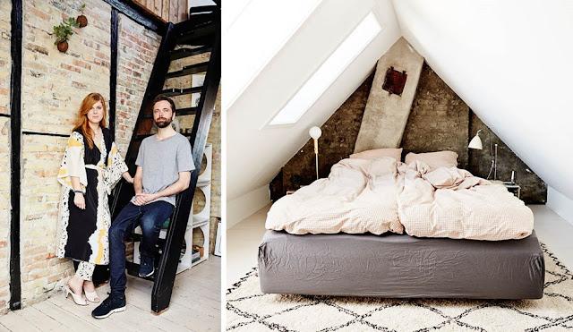 Un duplex modern și boem amenajat în totalitate de un tânăr cuplu