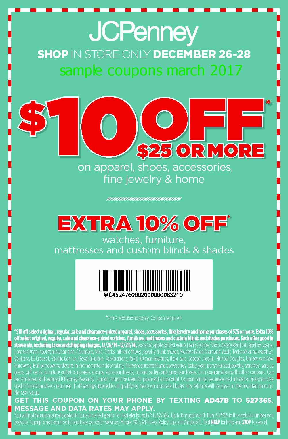 Save 25% at JCPenney with coupon code HOL (click to reveal full code). 19 other JCPenney coupons and deals also available for December