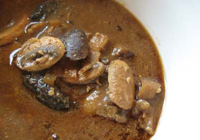 Miso Soup with Wild Mushrooms
