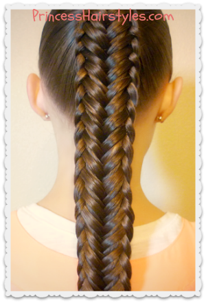 Twisted edge fishtail braid video tutorial