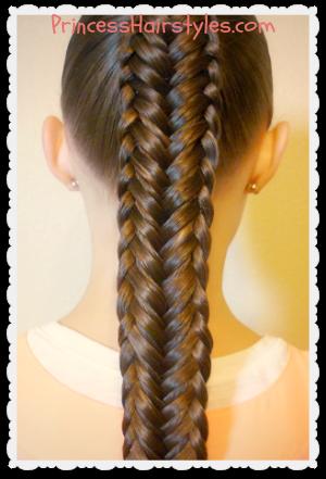 twisted edge fishtail braid hair