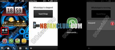 Let Start Stop Widget for Switching WhatsApp - Nokia N8 - S