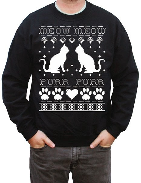 Nerd Fashion - Ugly Cat Christmas Sweaters | explodedsoda