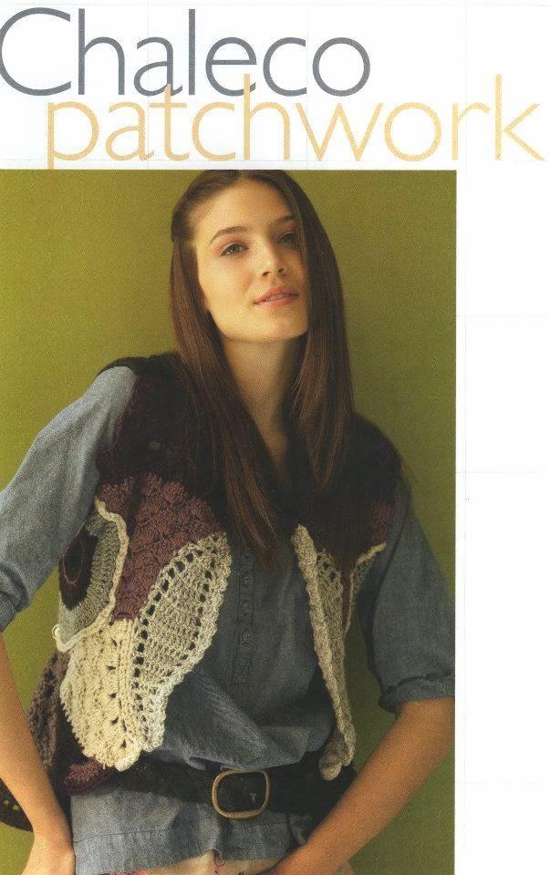Chaleco Patchwork Crochet Patron