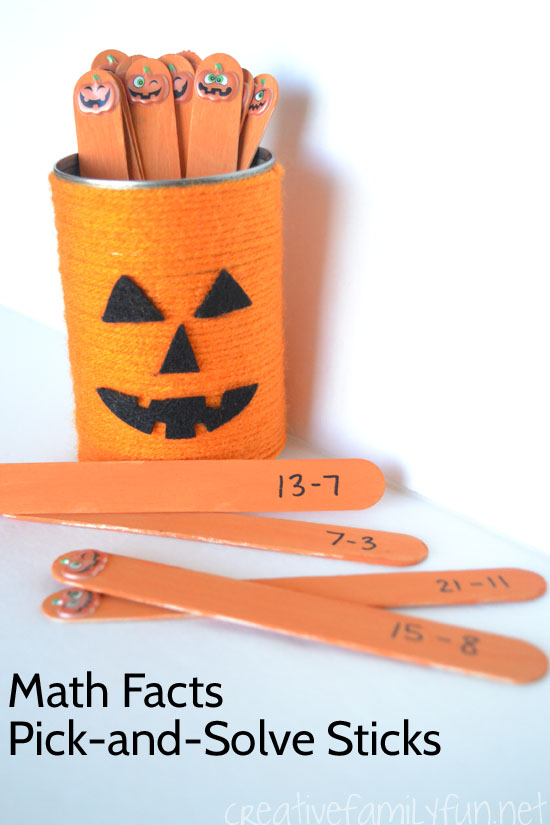 Practice math facts with this fun Halloween Pick-and-Solve math game for kids.