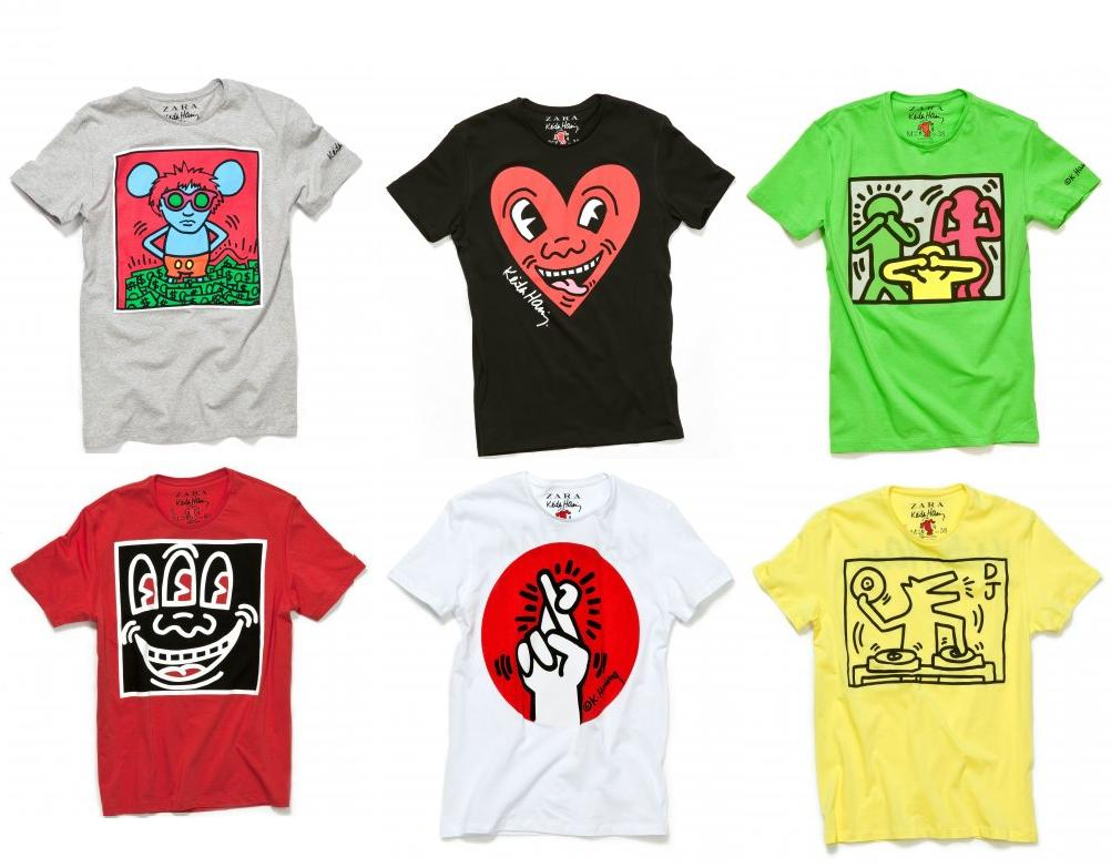 26a37d49 ... as neutral colors such as white, black, gray mix and match from,  vibrant patterns. Also, T-shirt with self-portrait of Keith Haring should  not to miss!