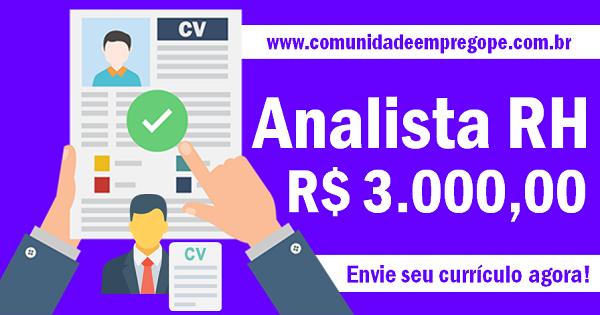 ANALISTA DE RH SALÁRIO R  3.000 bf1324be5f409
