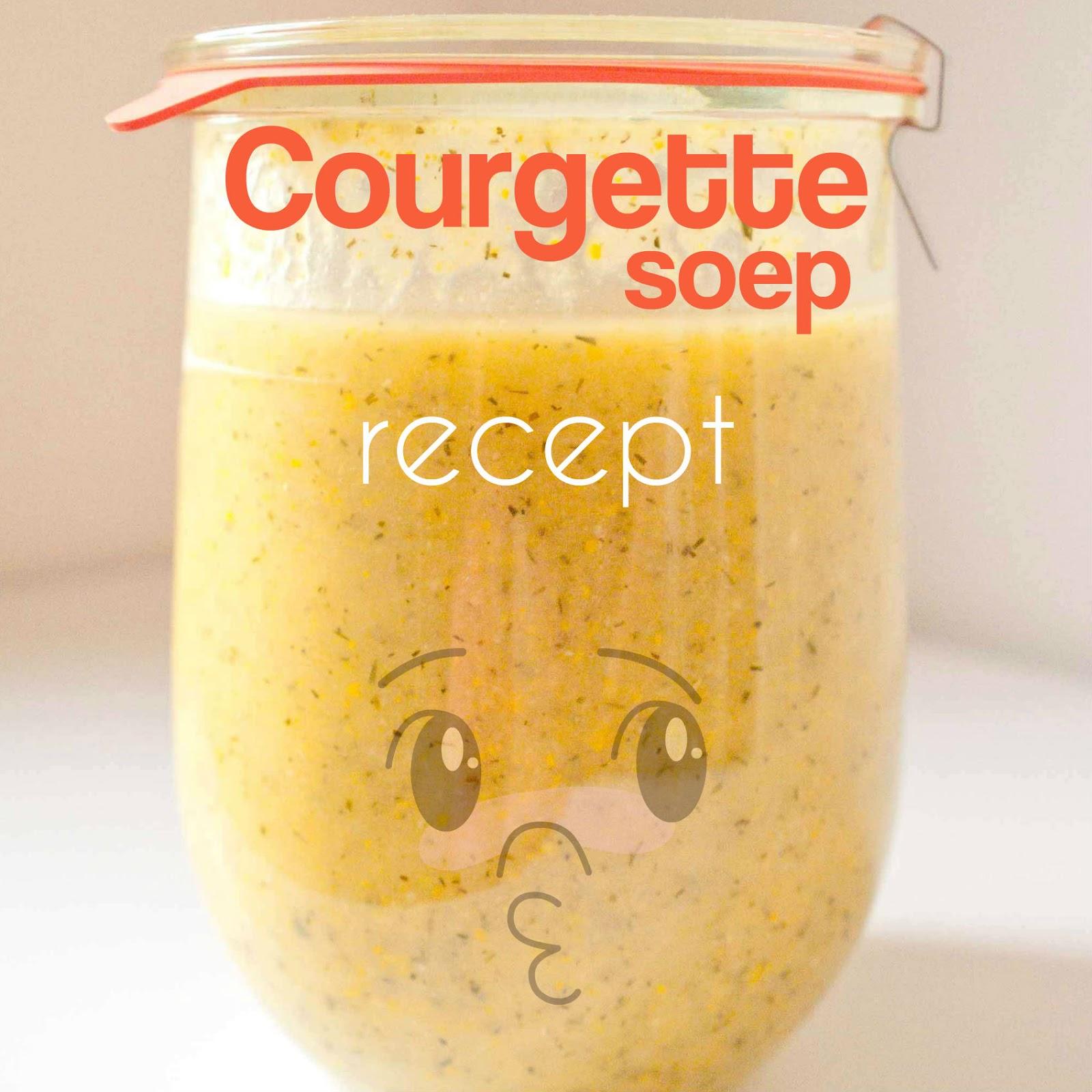 recept courgette soep courgettes volkstuin moestuin