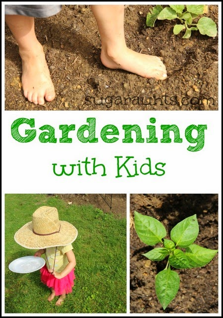 Gardening with kids.  Make these small adjustments to your garden to make it a sensory sanctuary in your own backyard!