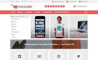 Sora Cart Mağaza Alışveriş Teması