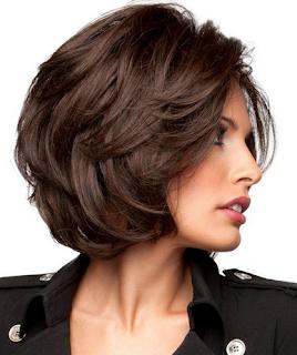 Model rambut pendek wanita sebelah kanan