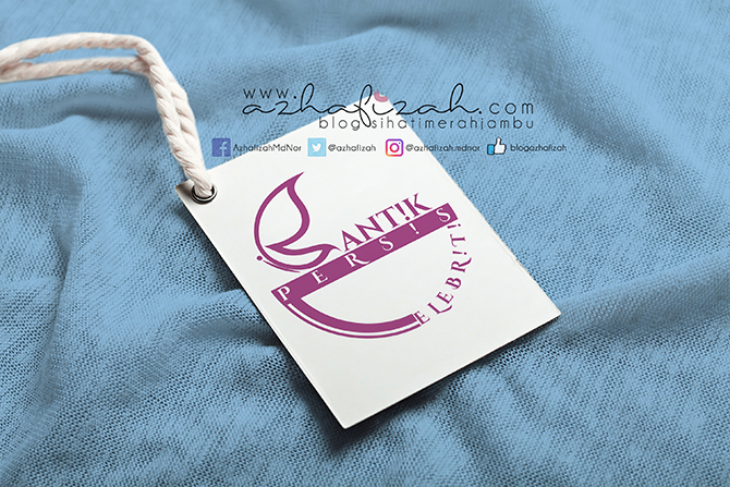 """Tempahan Logo """"Cantik Persis Celebriti"""""""