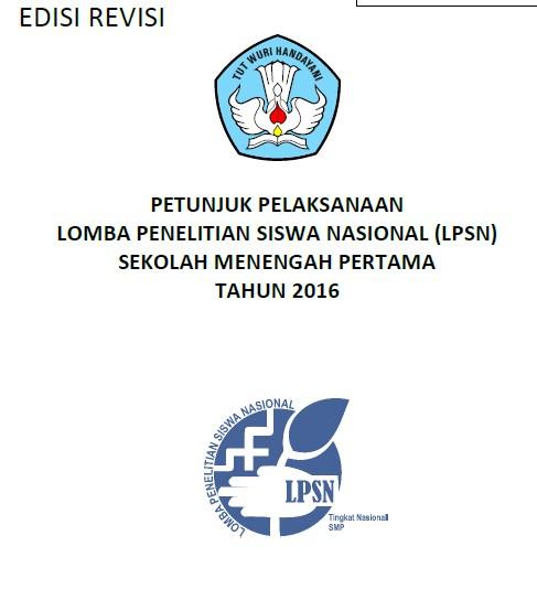 Juknis Lomba Penelitian Siswa Nasional (LPSN) Tingkat SMP Tahun 2016