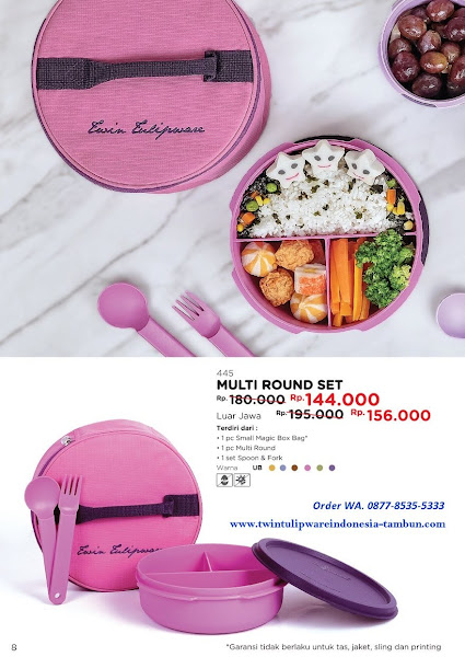 Promo Diskon Tulipware April 2018, Multi Round Set