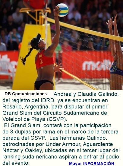 Las Galindo estarán en el primer Grand Slam del CSVP