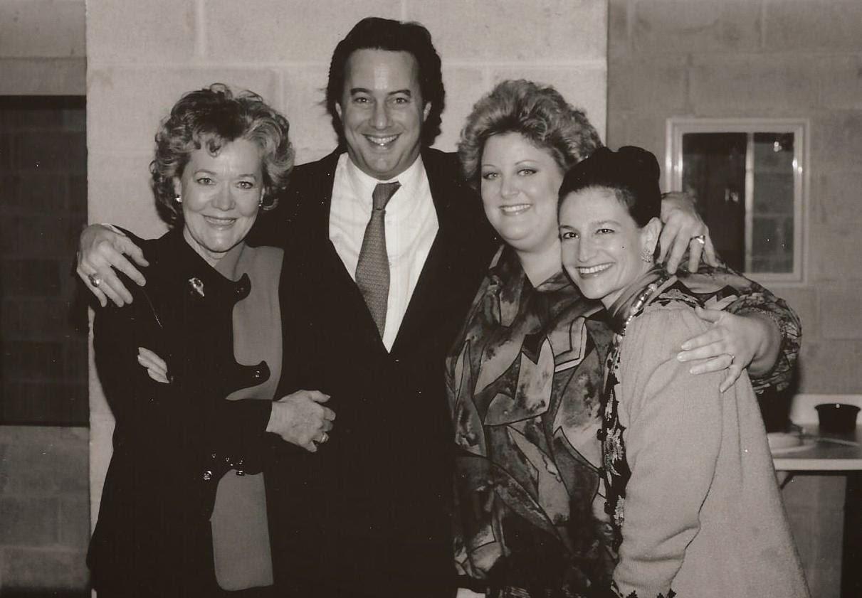 Karen with THOR ECKERT, JR. and sopranos LEONIE RYSANEK and DEBORAH VOIGT