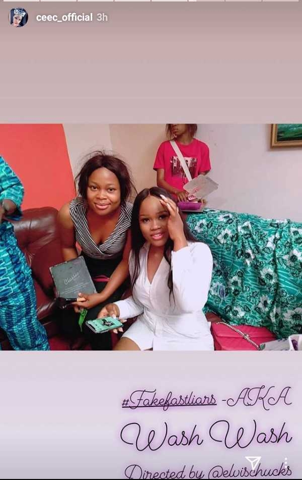 Bbnaija star Ceec debuts in Nollywood movie, Osuofia also stars in