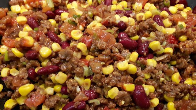 Chili sin Carne für die gefüllten Taco Shells