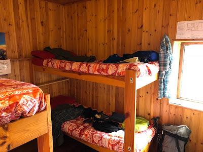 Four-person room at Rifugio Coca.