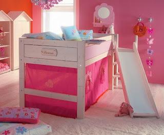 dormitorio para niña rosa