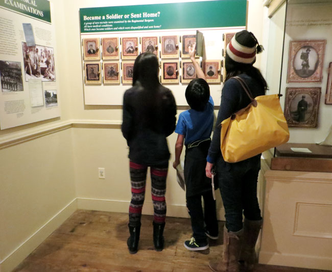 Cristina Garay and kids visiting a museum in Frederick MD