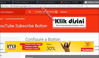 Cara Memasang Tombol Button Youtube Di Blogger Lengkap dan mudah
