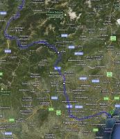 Route durch Norditalien nach Venedig ./. Quelle: Google Maps
