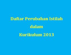 Daftar Perubahan Istilah di Kurikulum 2013 Terbaru
