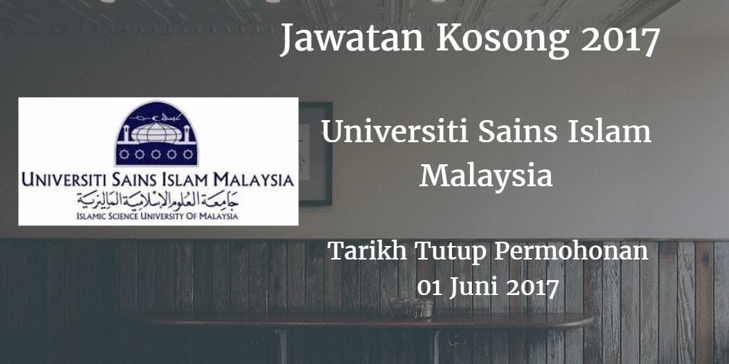 Jawatan Kosong USIM 01 Juni 2017