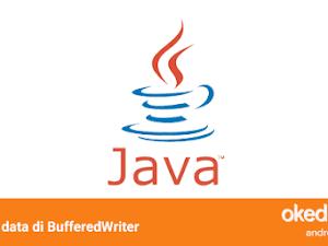 Belajar Menulis isi Data File TXT dengan BufferedWriter di Java