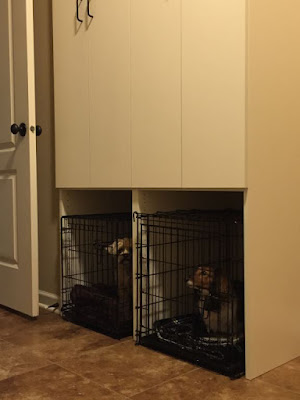 built in dog kennel