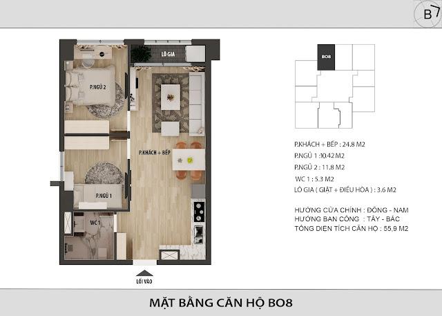 Chi tiết căn hộ B08