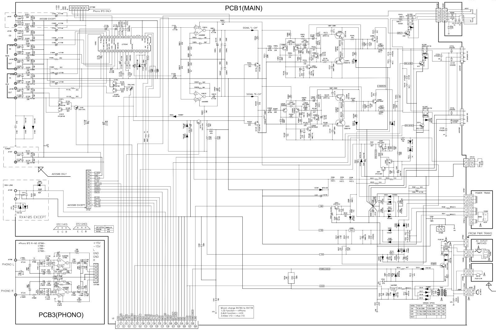 Sherwood RX 4109 – circuit diagram - AM/FM STEREO RECEIVER ...