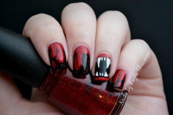 Nails By Kayla Shevonne Halloween Nail Art Vampire Fangs
