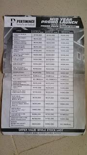 abc gardens price list
