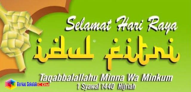 Selamat Idul Fitri 1440 Hijriah versi berkas sekolah