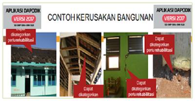 Download Panduan Pengisian Kerusakan Bangunan Versi Dapodik 2018 Terbaru