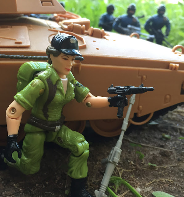 1985 Mauler M.B.T., Heavey Metal, 1990 Bullhorn, Salvo, Ambush, 2017, Red Laser Army, The General, Hawk, Flash, Bombadier, Action Force, Lady Jaye, 2004 Urban Strike Nullifier, Flak Viper