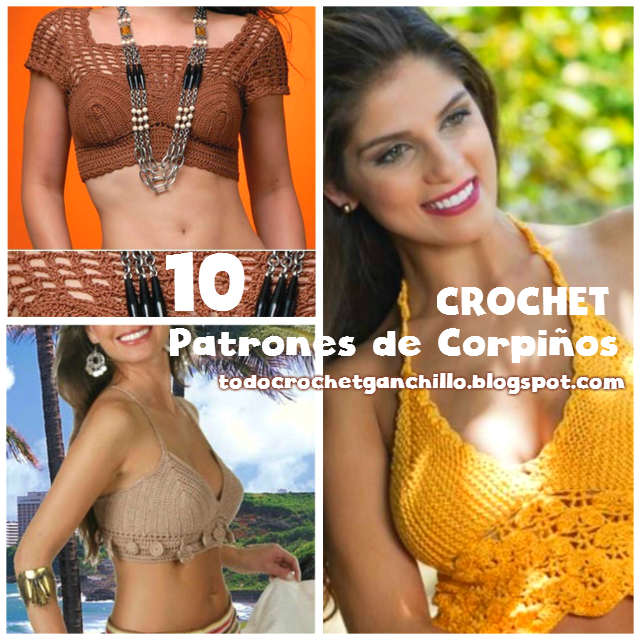 10 Diagramas de corpiños para tejer al crochet