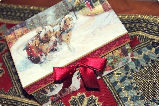 Red Christmas gift box