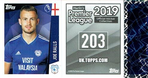 Merlin Premier League 2019-Joe Ralls Cardiff City Nº 68