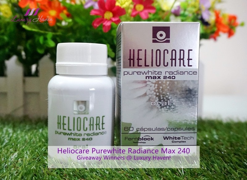 heliocare purewhite radiance max 240 giveaway winners
