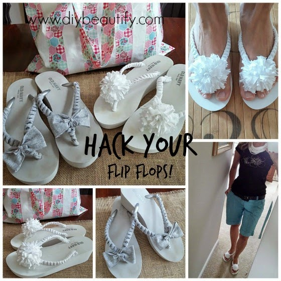 Old Navy Flip Flop Hack www.diybeautify.com
