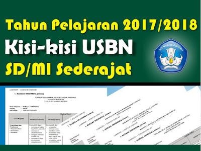 Kementrian Pendidikan dan Kebudayaan menetapkan bahwa Sekolah Dasar SD Download Kisi-Kisi USBN SD/MI Terbaru 2018