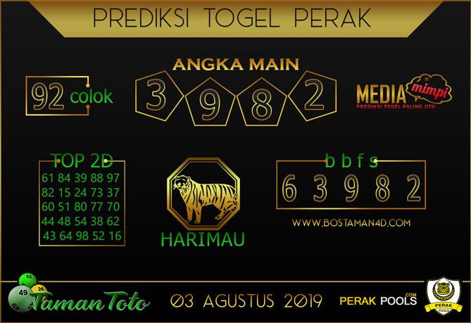 Prediksi Togel PERAK TAMAN TOTO 03 AGUSTUS 2019