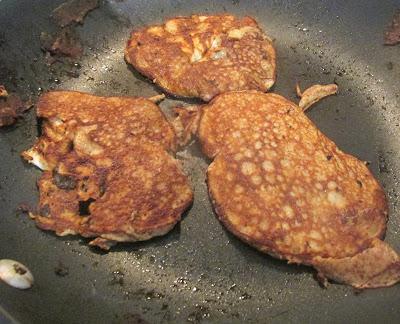Making banana pancakes