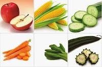 makanan lovebird buah sayuran