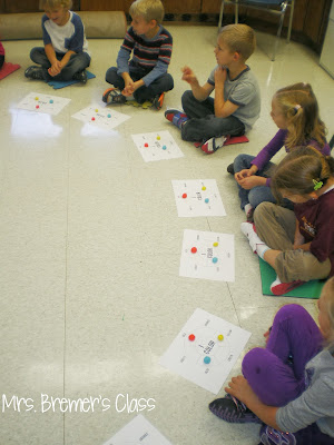 Art activity lesson to learn about color mixing and the color wheel in Kindergarten